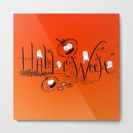 Happy and Terrific Halloween Metal Print