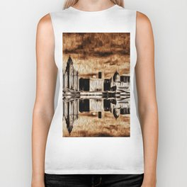 Liverpool Water front Skyline (Digital Art) Biker Tank