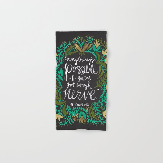 Anything's Possible on Charcoal Hand & Bath Towel