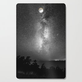 Night Sky (Black and White) Cutting Board