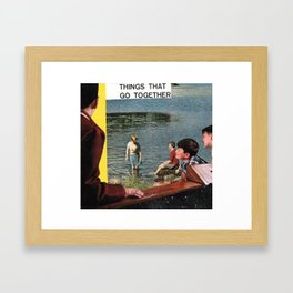 creep Framed Art Print