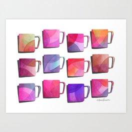 Coffee Mugs - Pink Colors Art Print