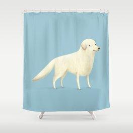 Golden Retriever Portrait Shower Curtain