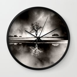SOLITARY REFLECTION Wall Clock