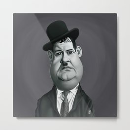 Oliver Hardy Metal Print
