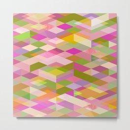 Rhapsody Jewelled Pink Garden Modern Abstract Geo Metal Print