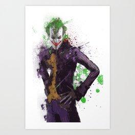 """""""The Joker"""" Splatter Art Art Print"""