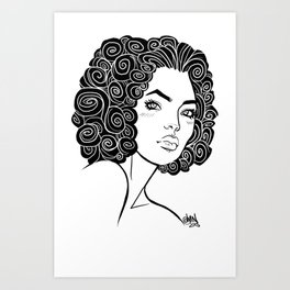 Curly Solonge Art Print