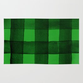 Buffalo Plaid Watercolor in Green Rug
