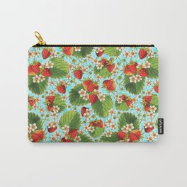Botanical Strawberries Carry-All Pouch