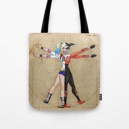 Vitruvian Harley Tote Bag