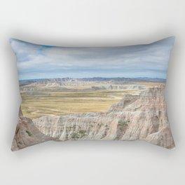 Badlands - Western Scenery in Badlands National Park South Dakota Rectangular Pillow