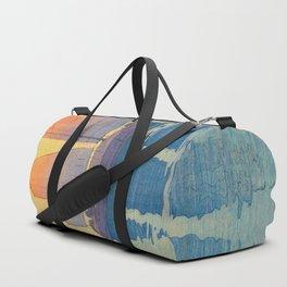 Sailing Boats, Morning Hiroshi Yoshida Modern Japanese Woodblock Print Duffle Bag