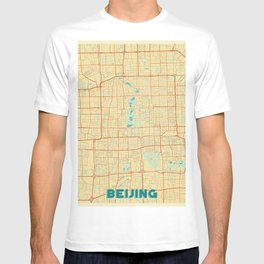 Beijing Map Retro T-shirt