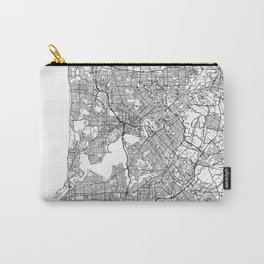 Perth Map White Carry-All Pouch