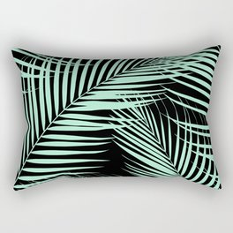 Palm Leaves - Mint Cali Vibes #1 #tropical #decor #art #society6 Rectangular Pillow