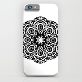Polynesian style mandala tattoo 2 iPhone Case