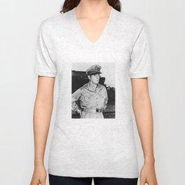 General MacArthur Unisex V-Neck