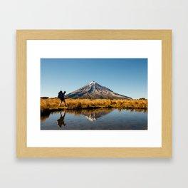 Hiking Mount Taranaki 10 Framed Art Print