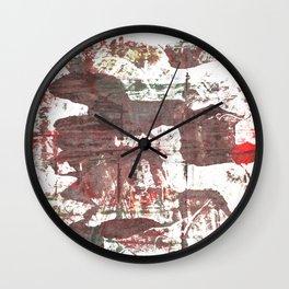 Deep Taupe abstract watercolor Wall Clock