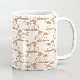 Gold Leaf Flamingo Pattern Coffee Mug