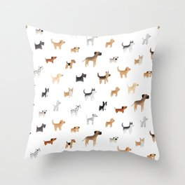 Lots of Cute Doggos Throw Pillow