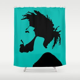 blue green Shower Curtain