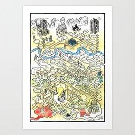 Obsidian Dungeon Art Print