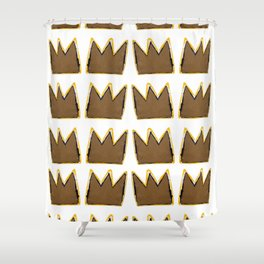 Crown Basquiat Shower Curtain