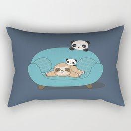 Kawaii Panda and Sloth Rectangular Pillow