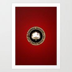 Minimal movie cover: Django Unchained Art Print