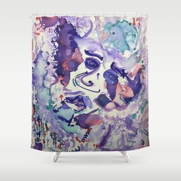 Psychedelic Strawberry Fields Shower Curtain
