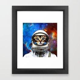 Astronaut Cat #2 Framed Art Print