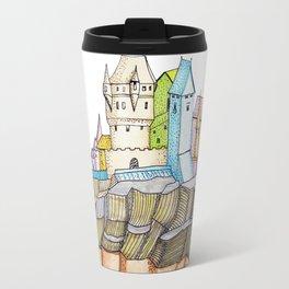 fairytale castle on a cliff Travel Mug