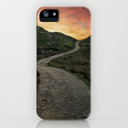 Sunset over Skye island iPhone Case