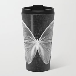 Butterfly in Black Travel Mug