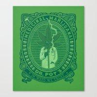 marijuana Canvas Prints featuring Medicinal Marijuana by victor calahan