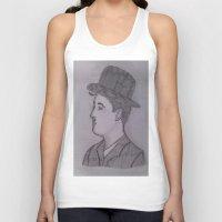 charlie chaplin Tank Tops featuring Charlie Chaplin by Natasha Lake