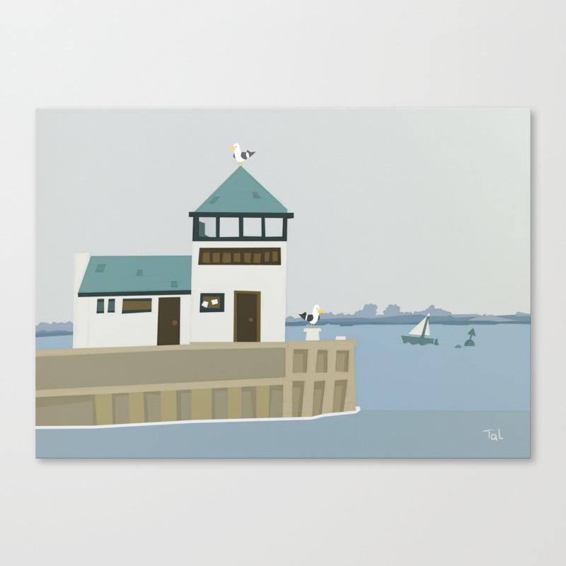The Dock Beach Wall Art Nursery Decor For Boys Room Canvas Print