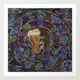 Aztec Beer Art Print