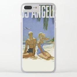 Los Angeles Santa Monica Clear iPhone Case