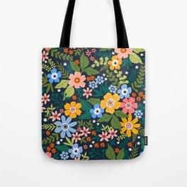 Floral print. Bright flowers. Tote Bag