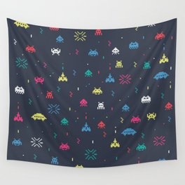 Space invader Wall Tapestry