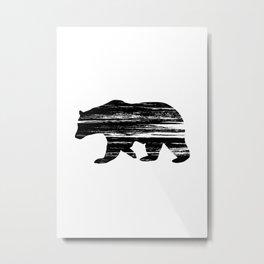 Bear Silouetthe Metal Print