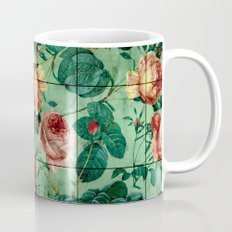 Floral and Marble Texture Mug