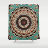 southwest Shower Curtains featuring Southwest Mandala by Cindi Ressler Photography