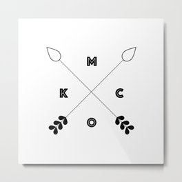 KCMO Kansas City x Arrows Metal Print