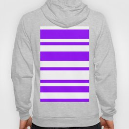 Mixed Horizontal Stripes - White and Violet Hoody