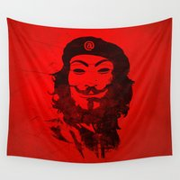 che Wall Tapestries featuring Che Anonymous by Nxolab