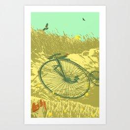 LAZY DAY RIDE Art Print